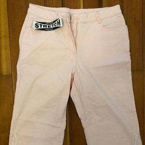 Womens BRAND NEW Pink embroidered pants.